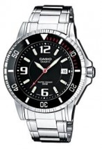 Casio Edifice Mtd-1053d-1a Quartz Neobrite Date Display Ss Case&bracelet Black Dial Wr 200mt
