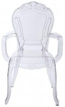 Chaise avec accoudoirs polycarbonate transparent chay - Lot de 4