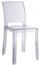 Chaise contemporaine polycarbonate transparent chay - Lot de 4