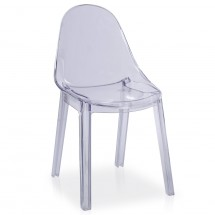 Chaise empilage Transparent Poline - Lot de 4