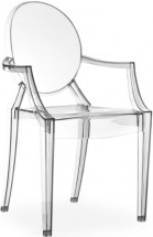 Chaise médaillon avec accoudoirs polycarbonate transparent Ghosty