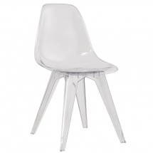 Chaise polycarbonate transparent Evasy - Lot de 4