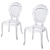 Chaise polycarbonate transparent Loby - Lot de 2