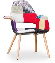 chaise scandinave patchwork inspire eero saarinen - Chaise Scandinave Multicolore