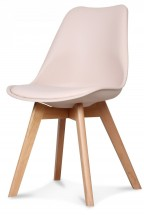 Chaise scandinave rose pale Keny - Lot de 2