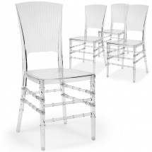 Chaise transparente Aston - Lot de 4