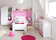 Chambre blanche et rose Betty