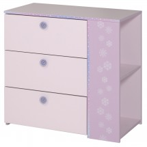 Commode 3 tiroirs rose Cricia