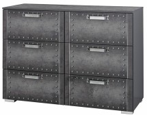 Commode 6 tiroirs Style industriel Graphite Work