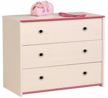 Commode blanche et rose Suzy