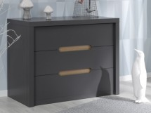 Commode grise 3 tiroirs Milo