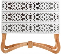Commode orientale 3 tiroirs mindi massif clair et blanc Mellie