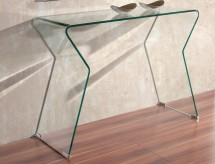 Console design verre transparent Mazzo