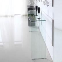 Console design verre trempé transparent Kays