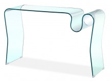 Console verre transparent Rollie