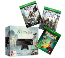 Console XBOX ONE - 500 Go + Jeu Assassin's Creed IV Black Flag + Jeu Assassin's Creed Unity + Jeu Rayman Legends