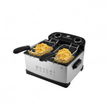 CONTINENTAL EDISON FRIN friteuse - 5 litres - 2 cuves - inox