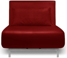 Fauteuil convertible similicuir rouge Ibiza