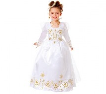 Costume Reine Blanche et Or Taille 5 a 7 ans Cesar