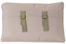 Coussin rectangulaire shabby chic coton et polyester rose Djamelia