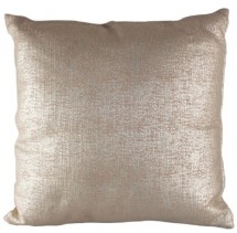Coussin shabby chic coton et polyester doré Gaby