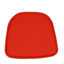 Coussin similicuir rouge Woodi