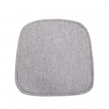 Coussin tissu gris Softy