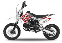 Dirt Bike 110cc Storm rouge 12/10 e-start automatique 4 temps