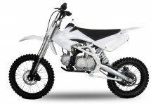 Dirt Bike 125cc Thunder 17/14 Manuel 4 temps Blanc