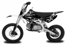 Dirt Bike 125cc Thunder 17/14 Manuel 4 temps Noir