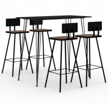 Ensemble de bar 5 pcs Noir