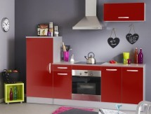 Ensemble de cuisine rouge brillant Bea