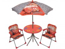 Ensemble Table, 2 chaises et parasol Cars