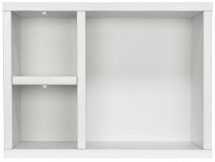 Etagère murale 3 compartiments pin massif blanc Basic Wood