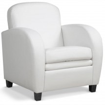 Fauteuil Club Blanc Mido