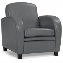 Fauteuil Club Gris Mido