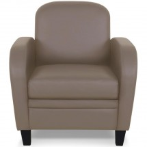 Fauteuil club taupe Mido