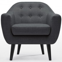 Fauteuil Cosy Tissu Anthracite