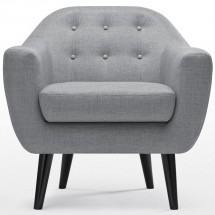 Fauteuil Cosy Tissu Gris Clair