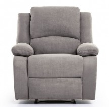 Fauteuil relax microfibre gris Relaxo