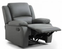 Fauteuil relax simili cuir gris Relaxo