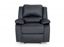 Fauteuil relax simili cuir noir Relaxo