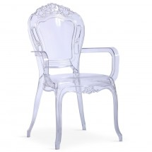 Fauteuil Plexi transparent King - Lot de 2