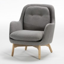Fauteuil scandinave toile grise Dios