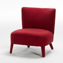Fauteuil scandinave toile rouge Ema