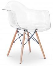 Chaise avec accoudoir transparent for Dsw fauteuil