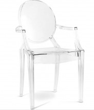 Fauteuil transparent Louis XIV