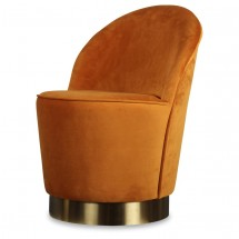 Fauteuil velours orange indie Kito