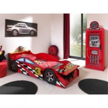 FUN Lit enfant Toddler Race Car Bed rouge