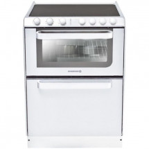 HOOVER Rosieres-TRV60RB/U-Cuisinieres Vitroceramique - 60X60 - Email Lisse - Blanc